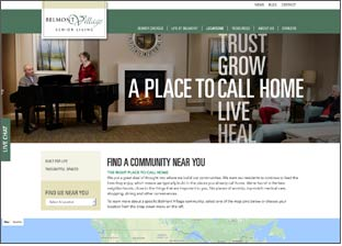 Belmont Village Communities Website
