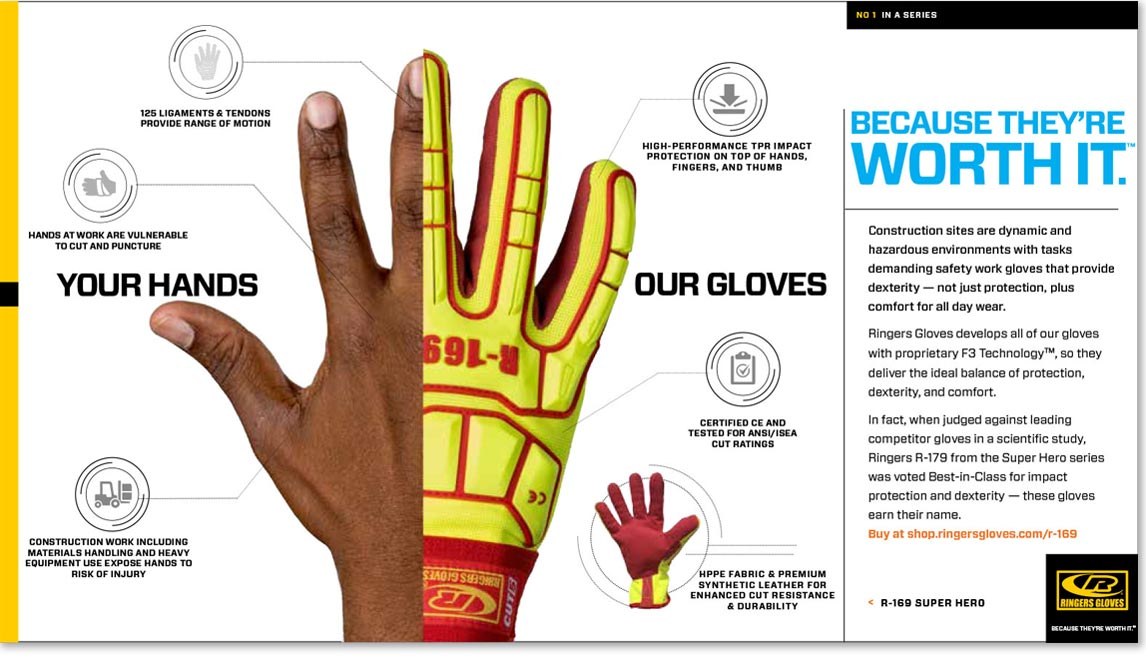 Ringers Gloves Ad