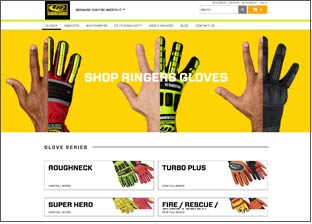 Ringers Gloves Website