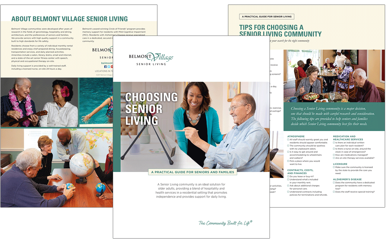 belmont village brochures hubspot inbound marketing case study